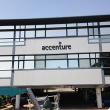 Photo of Solar Gard Sentinel Plus window tinting installed on the Accenture Consulting building